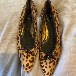 Vintage Prada Pony Hair Pointed Toe Flats sz 41